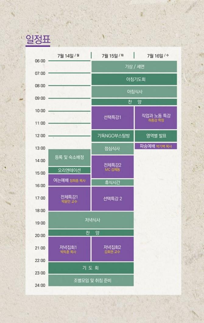 2014 성서한국 지역별대회 - 대구대회 시간표