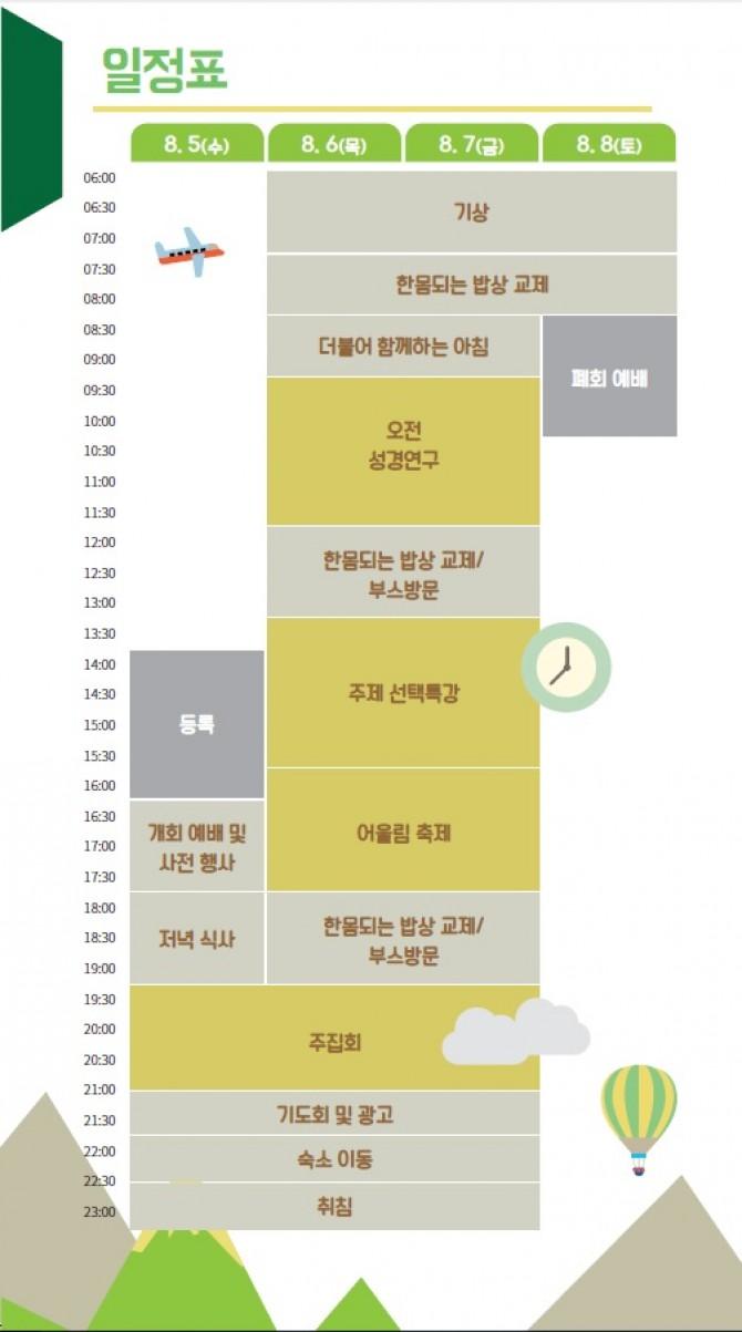2015 성서한국 전국대회 시간표