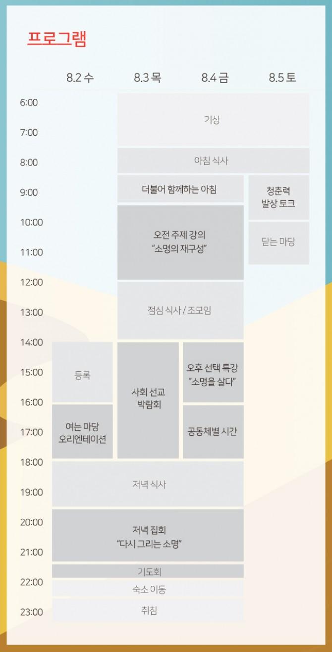 2017 성서한국 전국대회 시간표